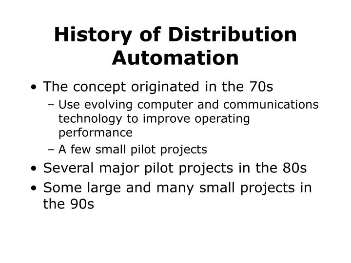 History of distribution automation