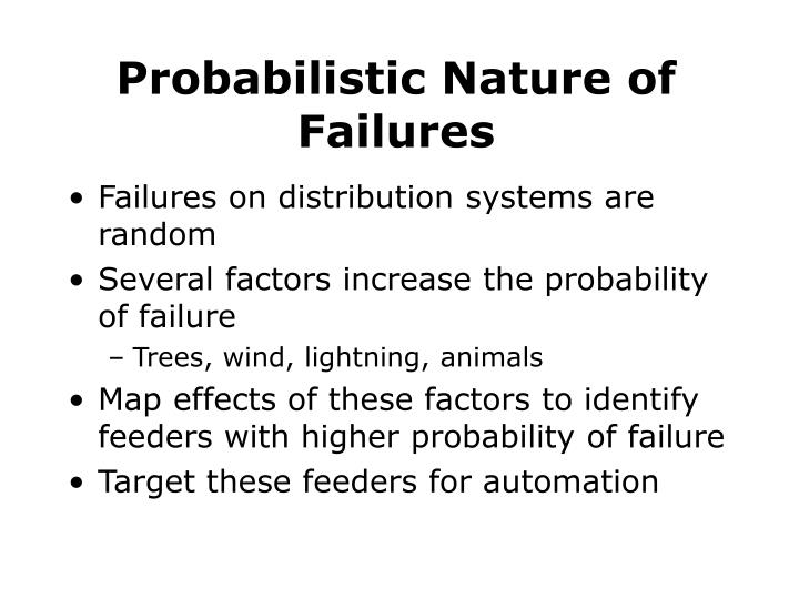 Probabilistic Nature of Failures