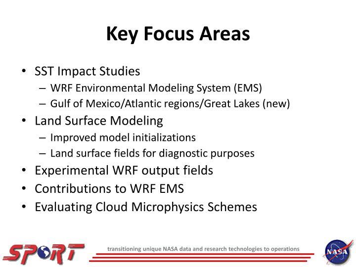 Key Focus Areas