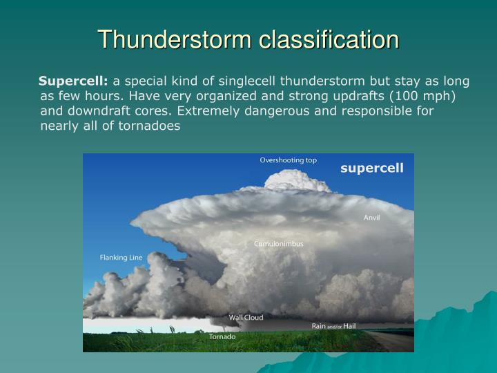 Thunderstorm classification