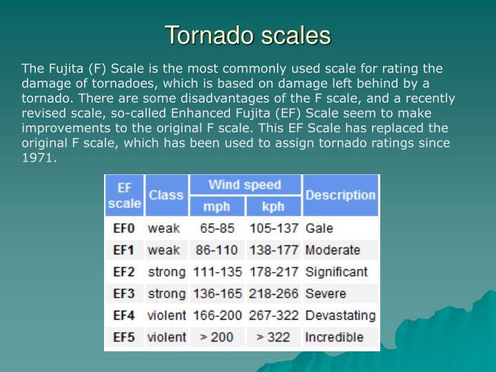 Tornado scales