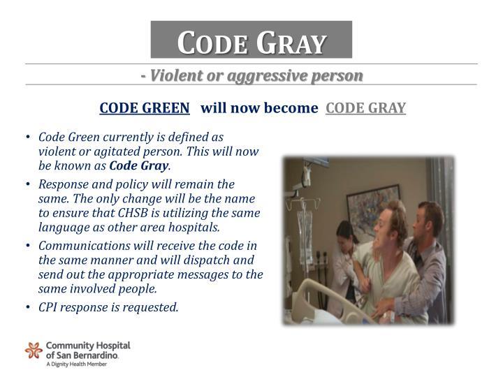 Code Gray