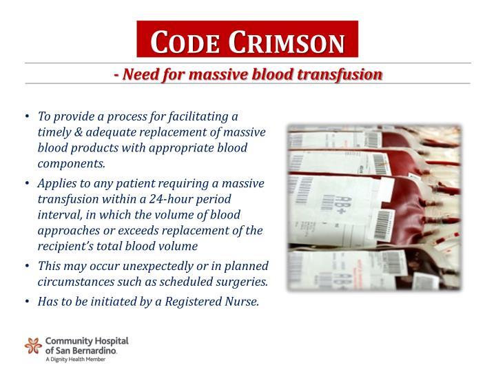 Code Crimson