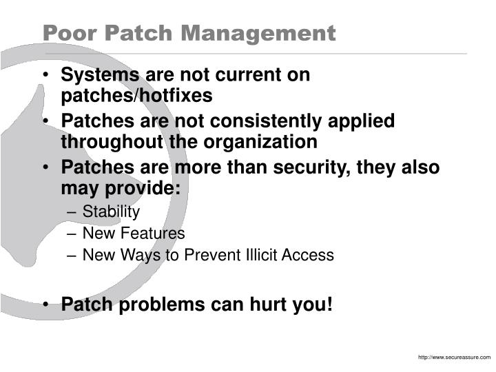 Poor Patch Management