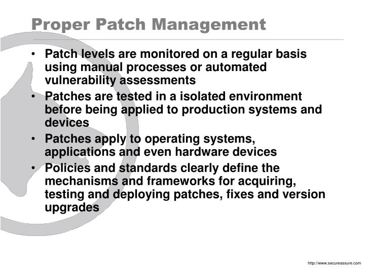 Proper Patch Management