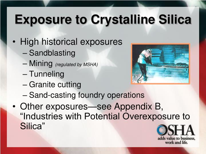 Exposure to Crystalline Silica