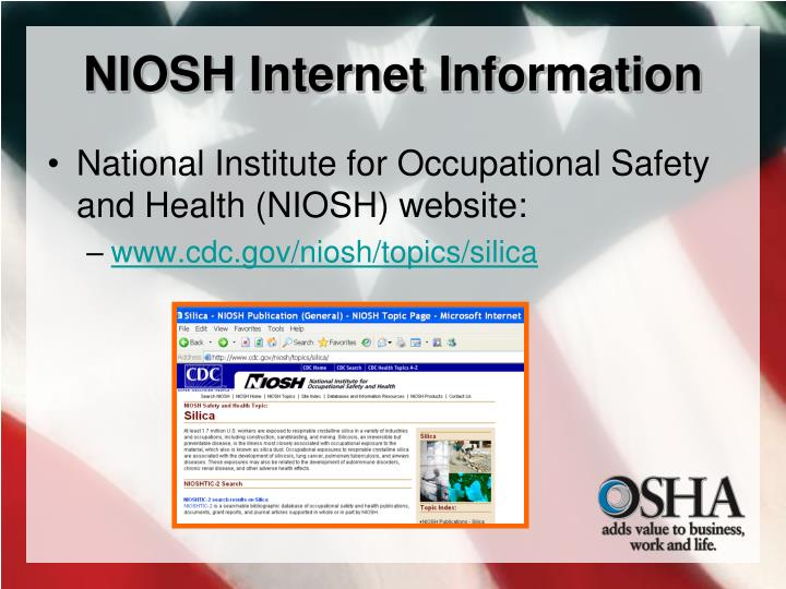 NIOSH Internet Information