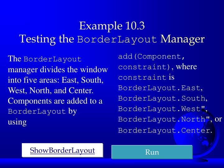 Example 10.3