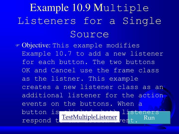 Example 10.9 M