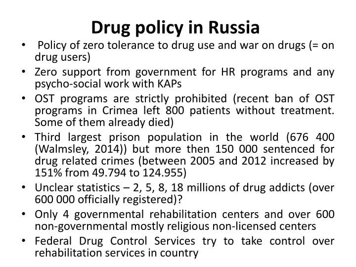 Drug policy in