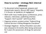how to survive strategy 2 internal advocacy