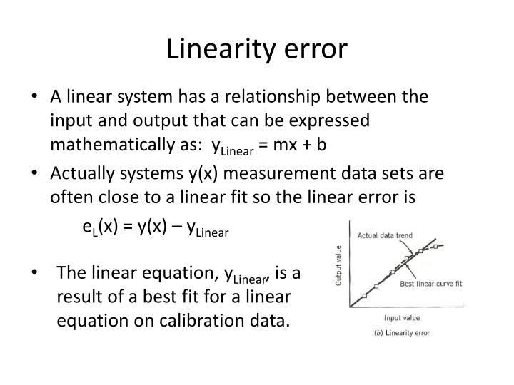 Linearity error