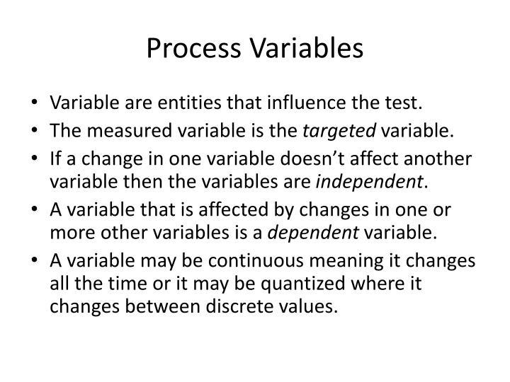 Process Variables