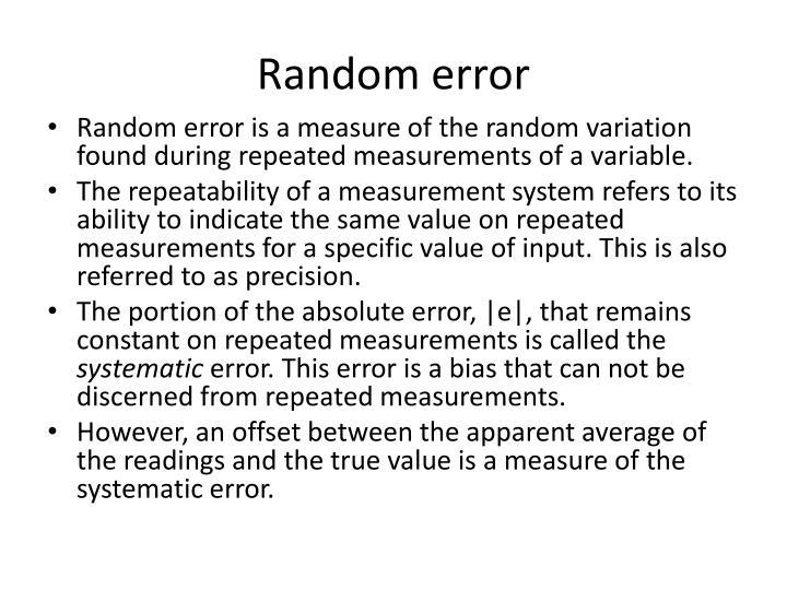 Random error