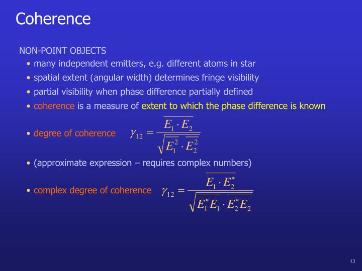 degree of coherence