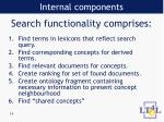 search functionality comprises