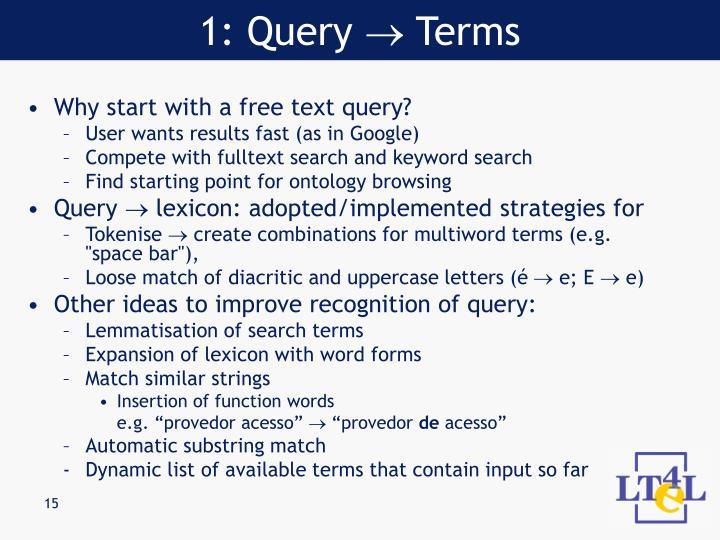 1: Query