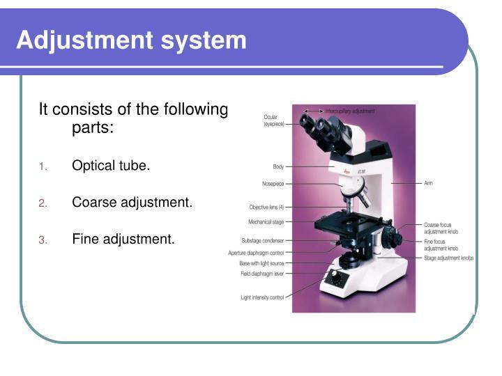 Adjustment system