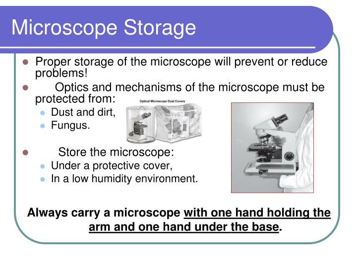 Microscope Storage
