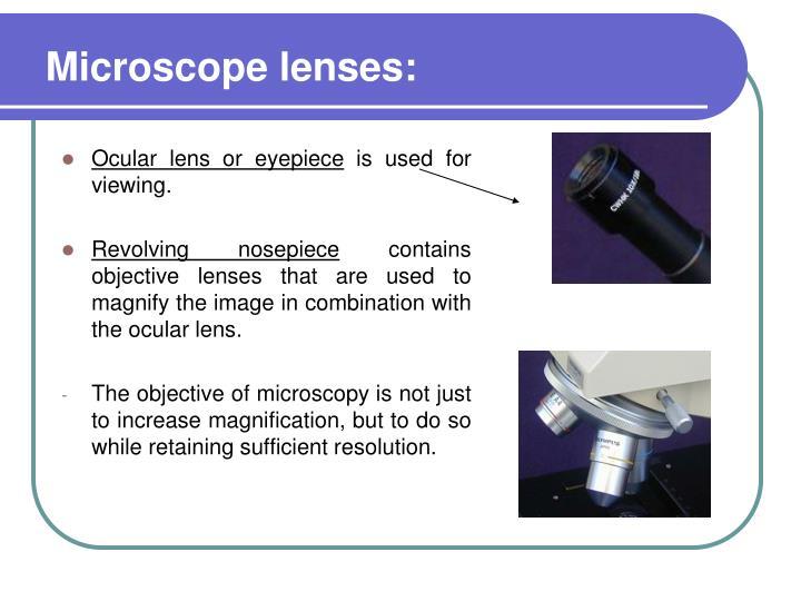 Microscope lenses: