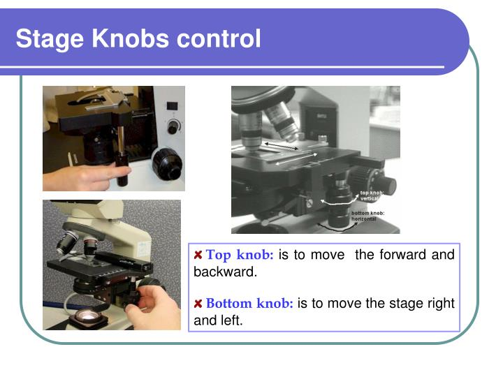 Stage Knobs control