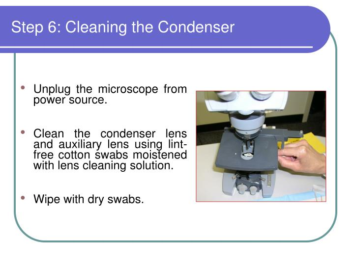 Step 6: Cleaning the Condenser