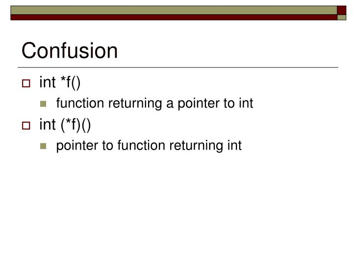 Confusion