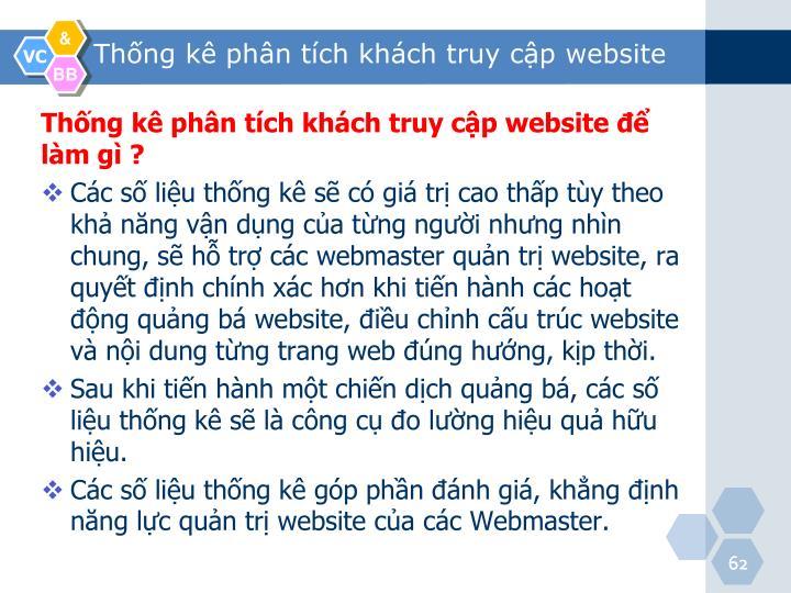 Thống kê phân tích khách truy cập website để làm gì ?