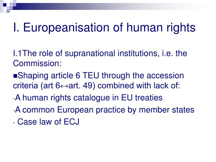 I europeanisation of human rights