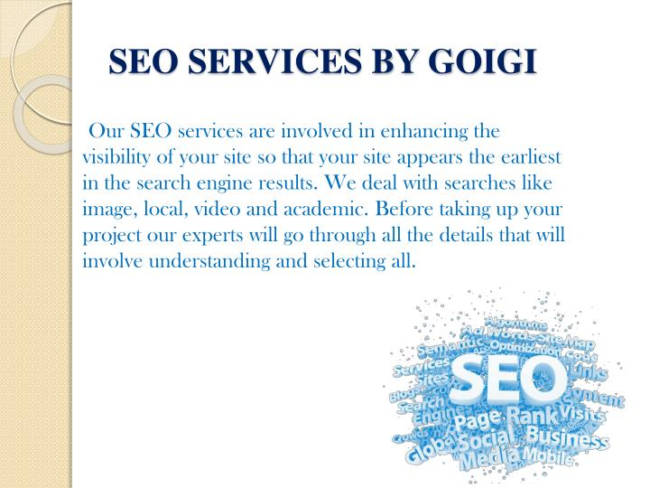 Seo services by goigi
