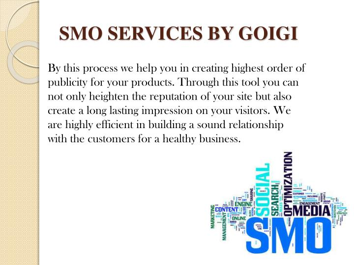 SMO SERVICES BY GOIGI