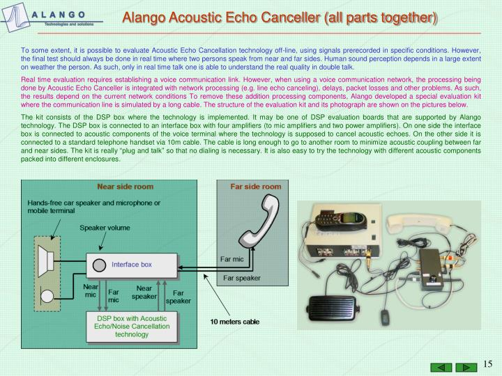 Alango Acoustic Echo Canceller (all parts together)