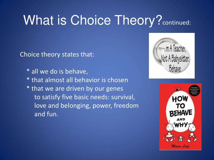 What is Choice Theory?