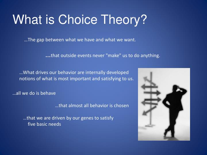 What is choice theory