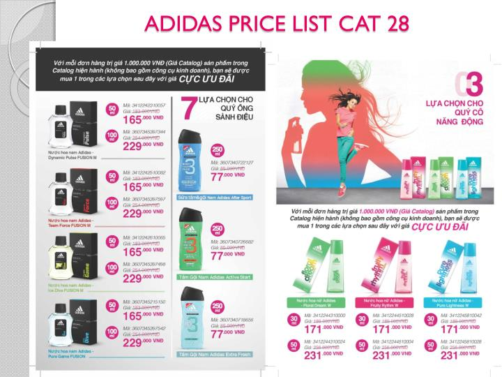 ADIDAS PRICE LIST CAT 28