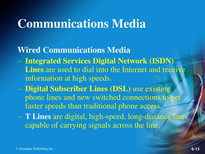 Wired Communications Media