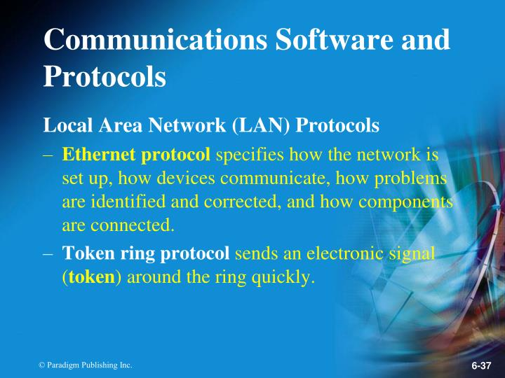Communications Software and Protocols