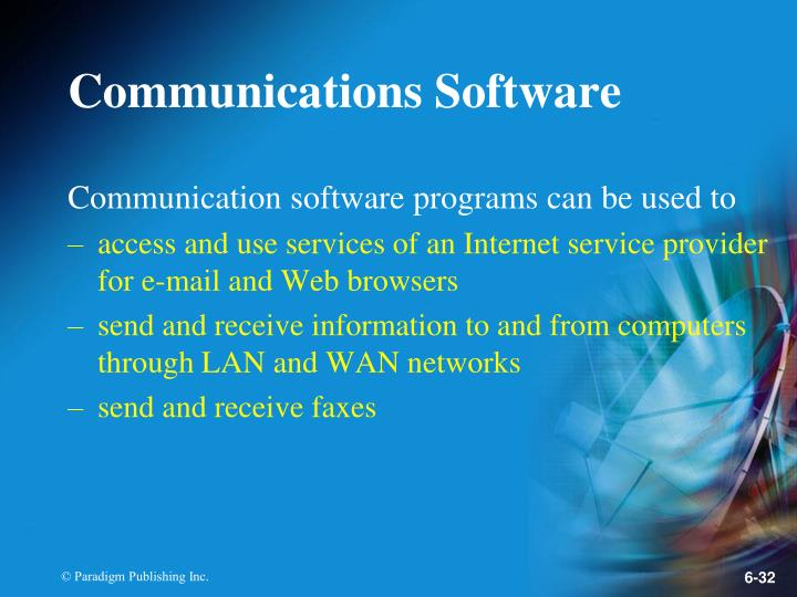 Communications Software