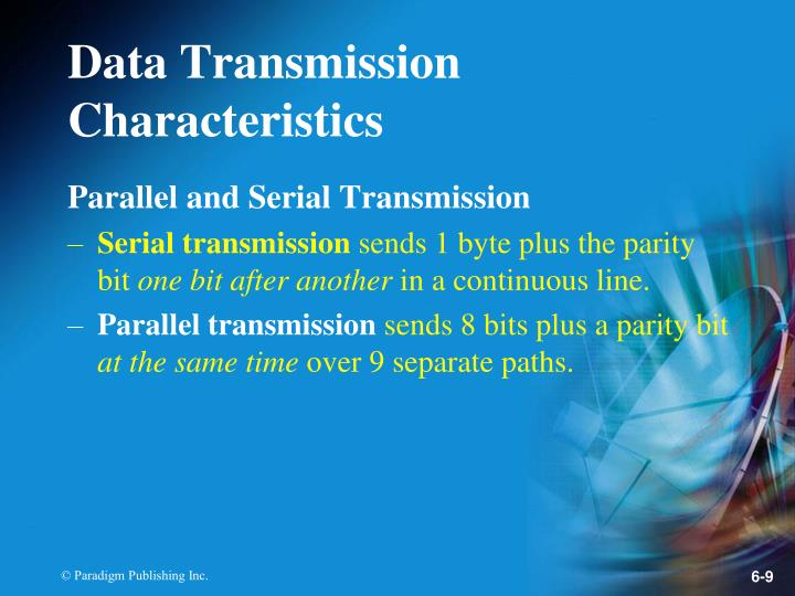 Parallel and Serial Transmission