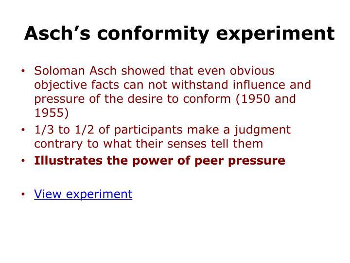 Asch's conformity experiment