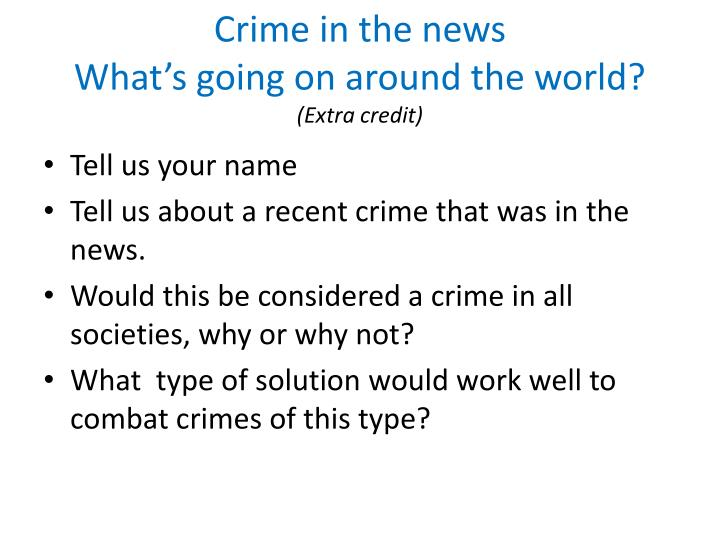 Crime in the news