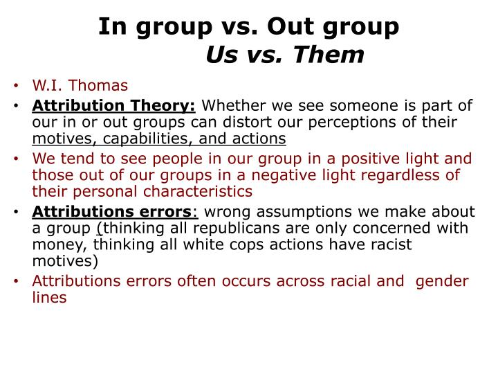 In group vs. Out group