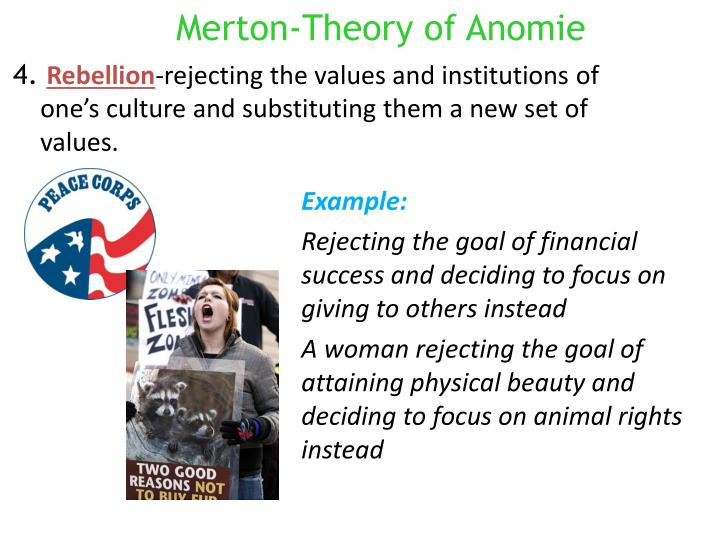 Merton-Theory of Anomie