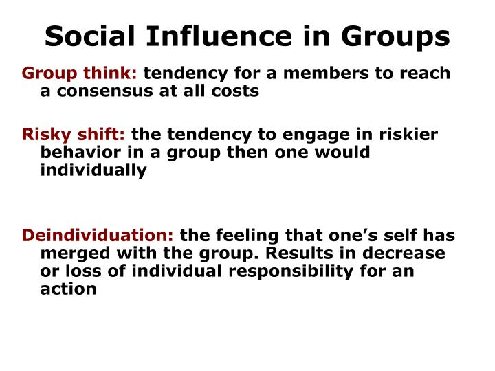 Social Influence in Groups