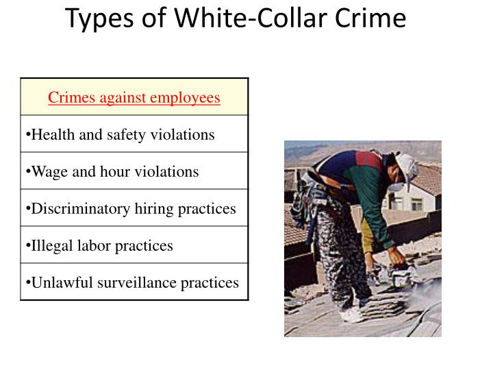 Types of White-Collar Crime