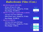 radiochromic films cont