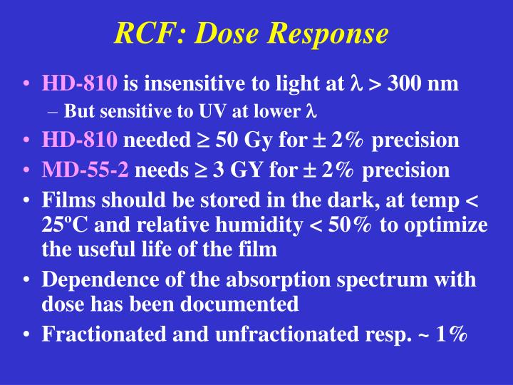 RCF: Dose Response