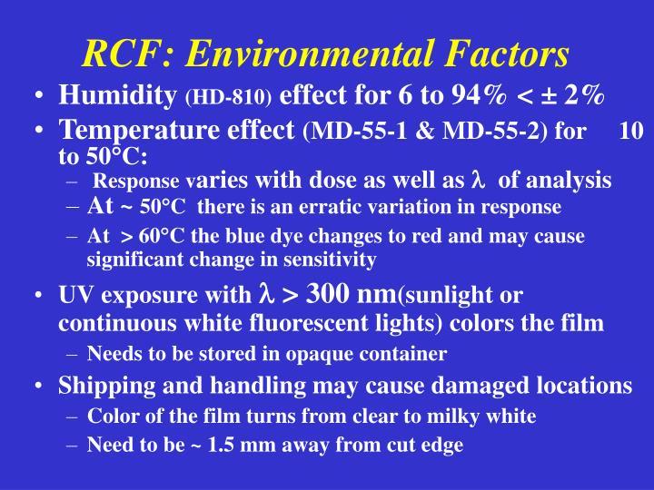 RCF: Environmental Factors