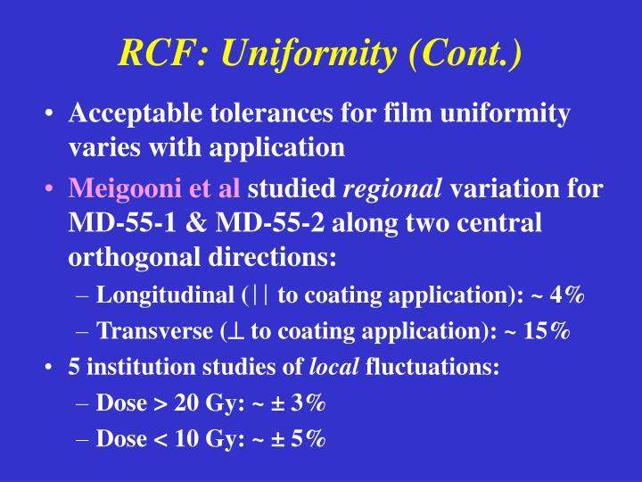RCF: Uniformity (Cont.)