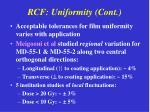 rcf uniformity cont